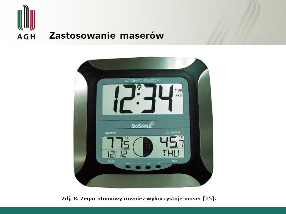 Zastosowanie maserów Zdj. 8. Zegar atomowy również wykorzystuje maser [15].